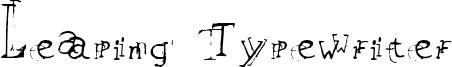 Leaping Typewriter Font