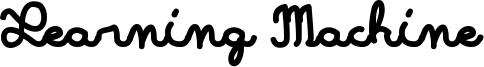Learning Machine Font