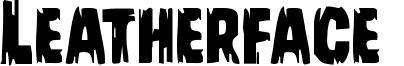 Leatherface  Font