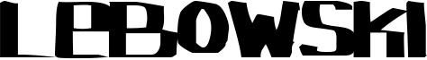 Lebowski Font