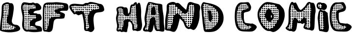 Left Hand Comic Font