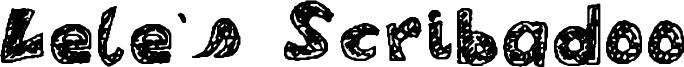 Lele's Scribadoo Font