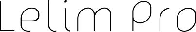 Lelim Pro Font