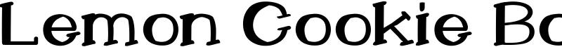 Lemon Cookie Bold Font
