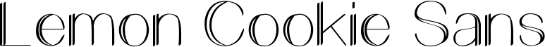 Lemon Cookie Sans Font