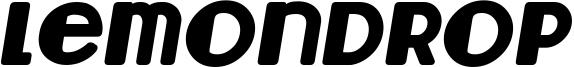Lemondrop Bold Italic.ttf