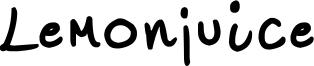 Lemonjuice Font