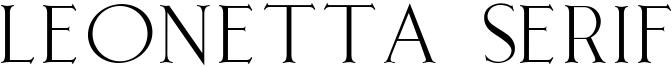 Leonetta Serif Font