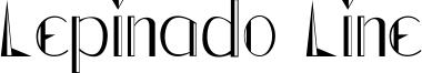 Lepinado Line Font