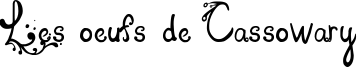 Les oeufs de Cassowary Font