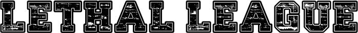 Lethal League Font