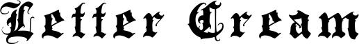 Letter Cream Font