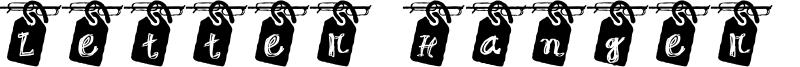 Letter Hanger JG Font