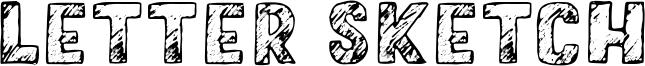 Letter Sketch Font
