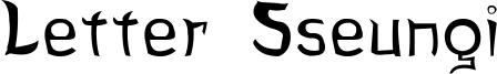 Letter Sseungi Font