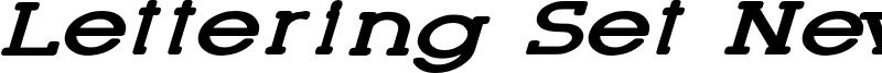 Lettering Set New Font