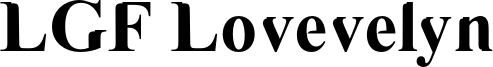 LGF Lovevelyn Font