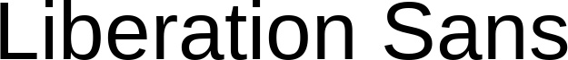 Liberation Sans Font