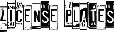 License Plates Font