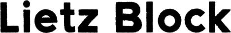 Lietz Block Font