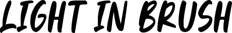 Light In Brush Font