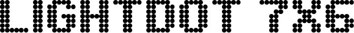 Lightdot 7x6 Font