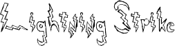 Lightning Strike Font