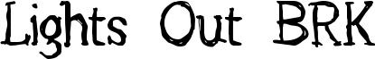 Lights Out BRK Font