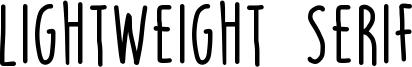 Lightweight Serif Font