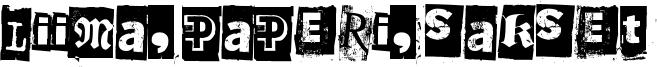 Liima, paperi, sakset Font