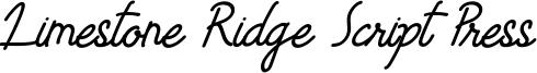 Limestone Ridge Script Press Font