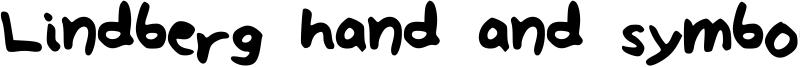 Lindberg hand and symbols Font
