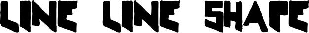 Line Line Shape Font