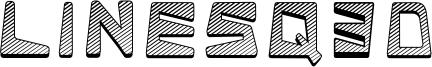 Linesq3d Font