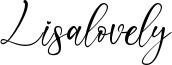 Lisalovely Font