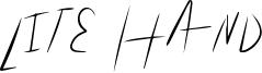 Lite Hand Font