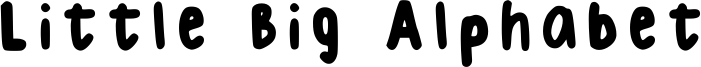 Little Big Alphabet Font