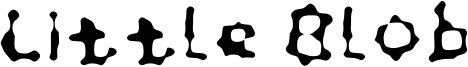 Little Blob Font