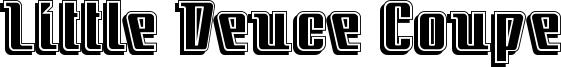 Little Deuce Coupe Font