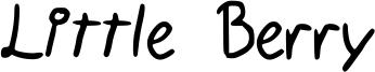 Little Berry Font