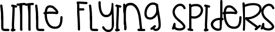 Little Flying Spiders Font