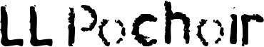 LL Pochoir Font