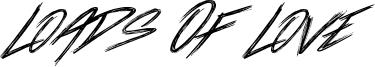 Loads Of Love Font