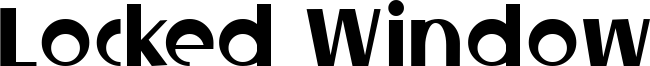 Locked Window Font
