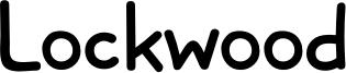 Lockwood Font