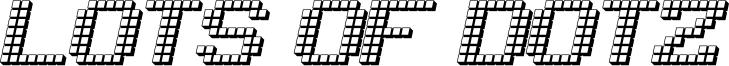 Lots of Dotz Font