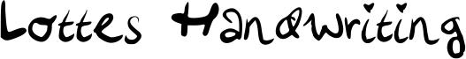 Lottes Handwriting Font