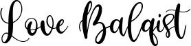 Love Balqist Font