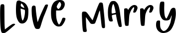 Love Marry Font