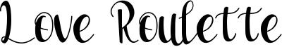 Love Roulette Font